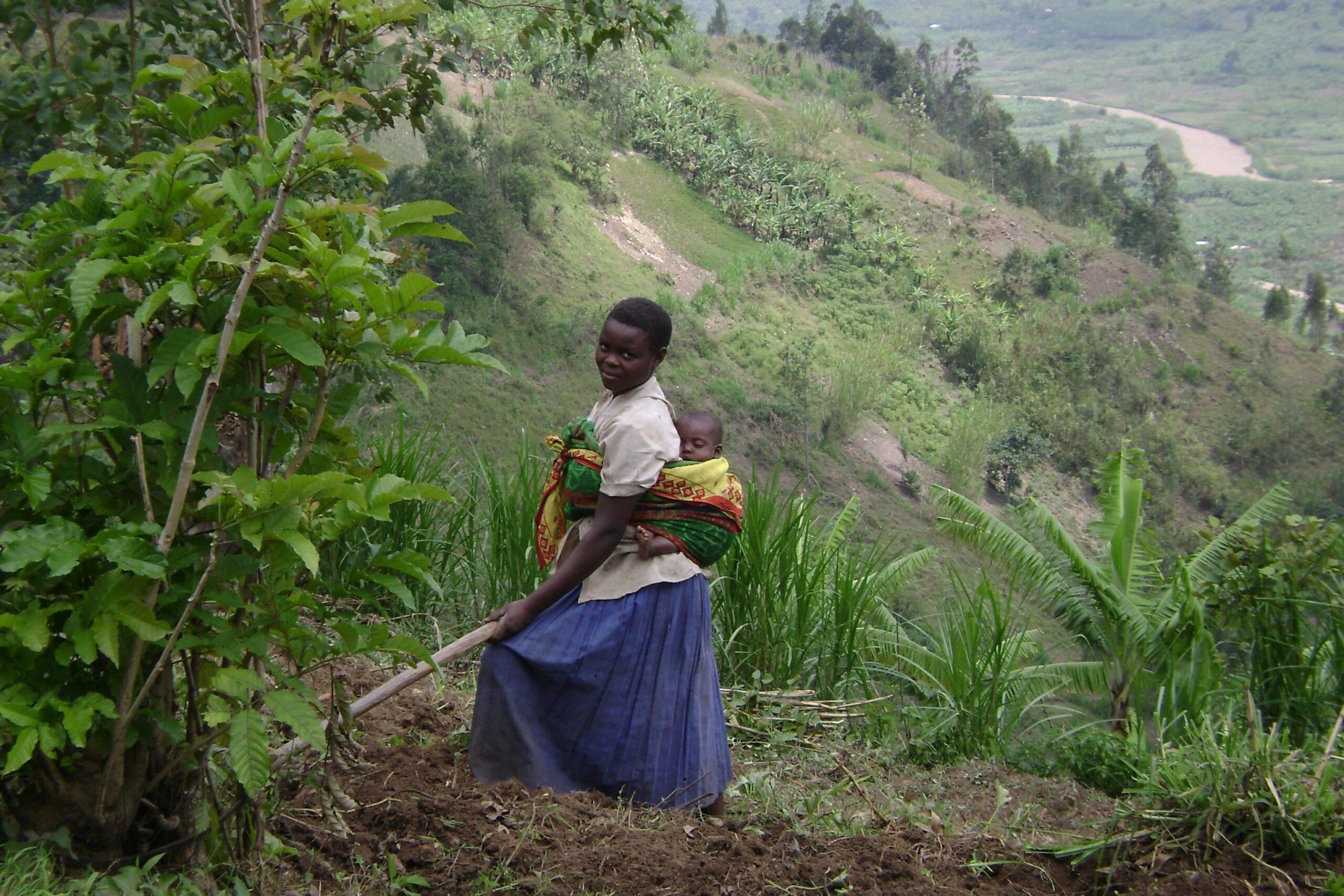 Women working in the hills of Rwanda